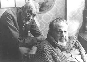 Orson Welles and John Huston